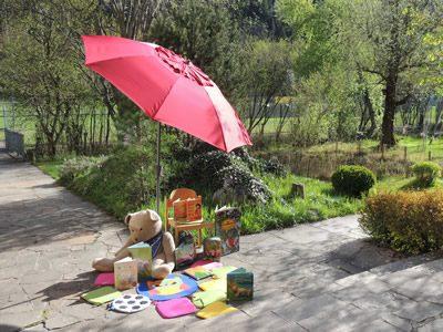 Leseplatz im Garten